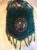 Emerald green amulet bag