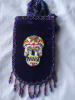 Xlge Purple Smart Ph. Bag w/ Day of the Dead Skull